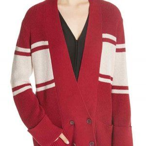 Joie Caleela Stripe Cardigan in Cam Red NWT